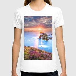 Lands End 4k sea sunset UK Cornwall England T-shirt