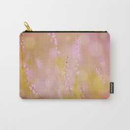 Subtle pink heather macro Carry-All Pouch