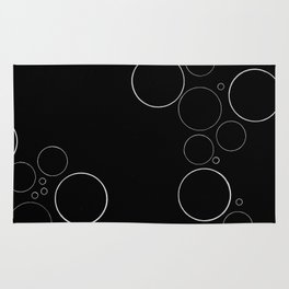 Bubbles on Black Rug