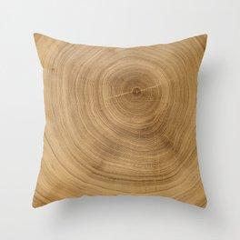 Naked Tree Rings Art Throw Pillow