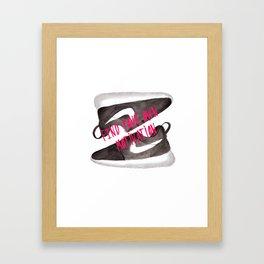 Running shoes Framed Art Print