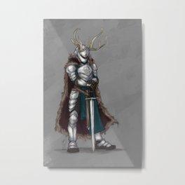 Reindeer Knight Metal Print