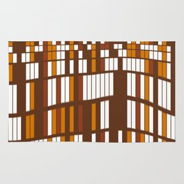 Wavy rectangles grid Rug