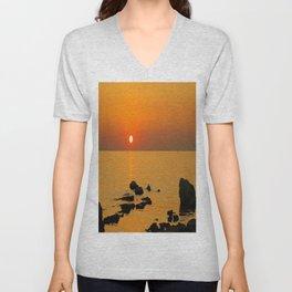 evening beach Unisex V-Neck