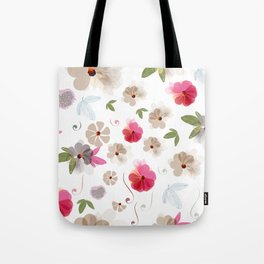 Cute soft spring pattern with flowers Tote Bag