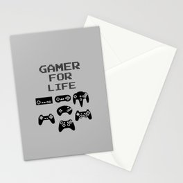 Gamer For Life Stationery Cards