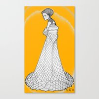 nouveau Canvas Prints featuring Nouveau by Madame Mim