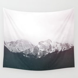 Snow on the Mountains Wall Tapestry