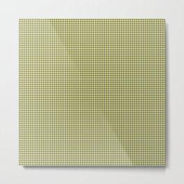 Olive Gingham Metal Print
