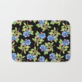 Wild Blueberry Sprigs Bath Mat