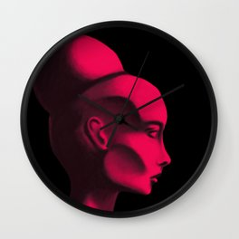 Red Cameo Wall Clock