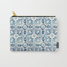 Azulejo IV - Portuguese hand painted tiles Carry-All Pouch