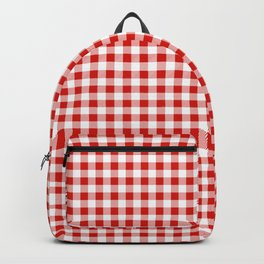 Christmas gingham pattern red and green cute gifts home decor for the holidays Backpack