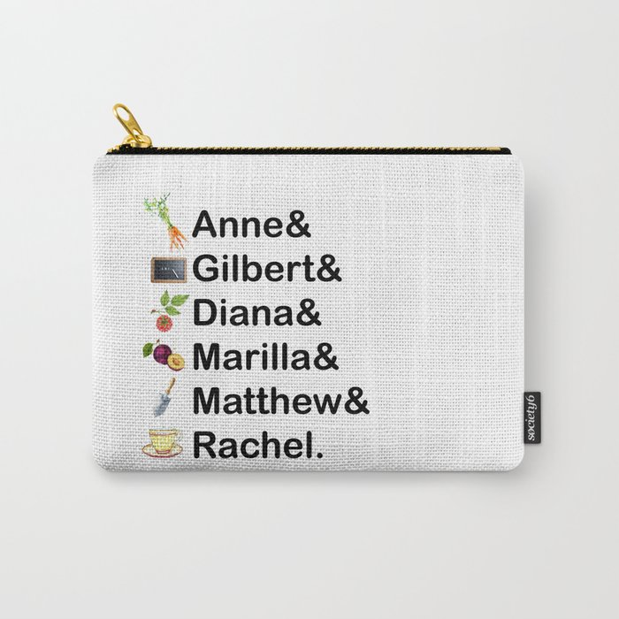 Anne of Green Gables Names Carry-All Pouch