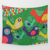 rio Wall Tapestries featuring Rio 002 by Maca Salazar
