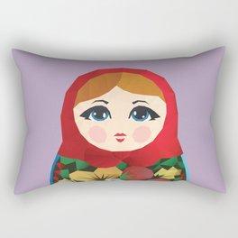 Matryoshka Polygon Art Rectangular Pillow