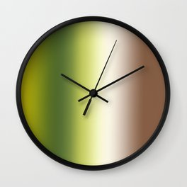Ombre Shades of Green 1 Wall Clock