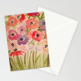 Summer watercolor print Stationery Cards