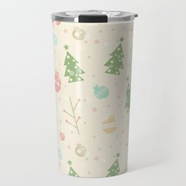 Simple christmas vector pattern Travel Mug