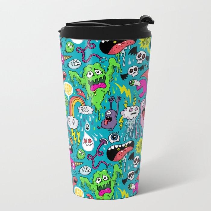 Monster Party Metal Travel Mug