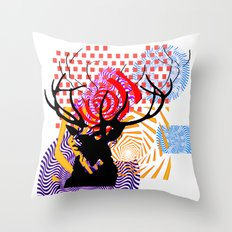 Mrs Stag Throw Pillow