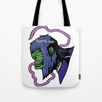 xmen Tote Bags featuring x4 by jason st paul
