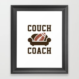 Couch Coach Framed Art Print