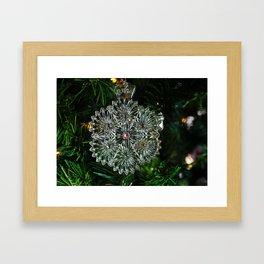 Snowcrystal Ornament 2016- horizontal Framed Art Print