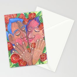 Love's bloom Stationery Cards
