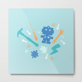 Young Pastel Engineer Metal Print