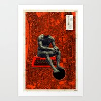 boxer Art Prints featuring Boxer by Frank Moth