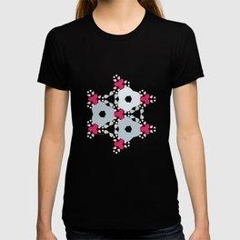 Kaleidoscope Flowers Winterday T-shirt