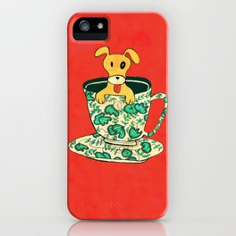 Dinnerware Sets - puppy in a teacup iPhone Case