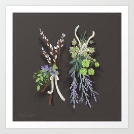 bouquets Art Print