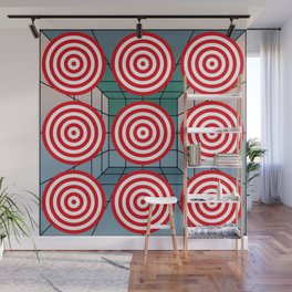 Shooting gallery with targets Wall Mural