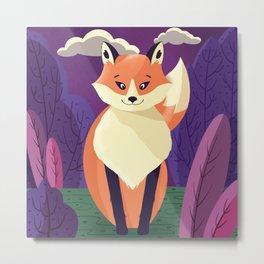 Wildlife 006 Red Fox Metal Print