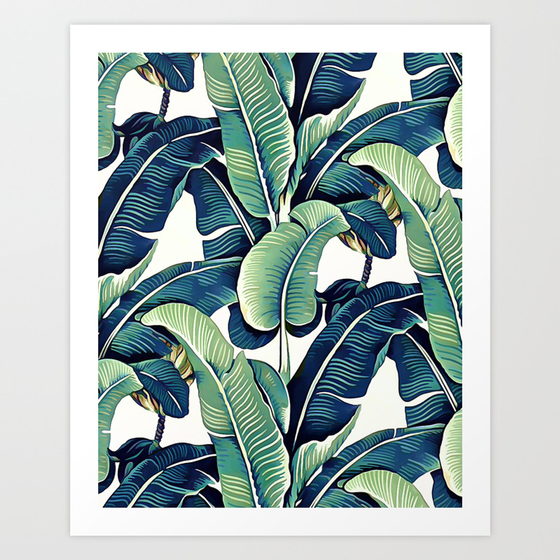 Banana Leaves Art Print By Catyarte Society6
