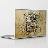 monogram Laptop & iPad Skins featuring monogram s by Art Lahr
