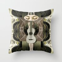 bride Throw Pillows featuring Bride by Ira Carter