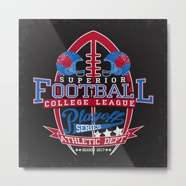 College League Football Playoff Metal Print