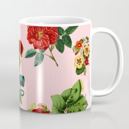 Keep it clean floral collage pink Coffee Mug