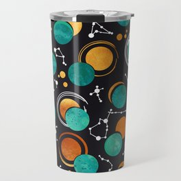 Great Total Solar Eclipse II // turquoise green moons Travel Mug