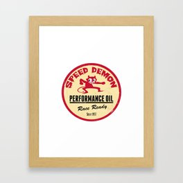 Hot Rod Retro Decal Framed Art Print
