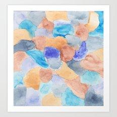 Seaglass Mosaic Art Print