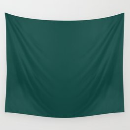 Deep Dark Jungle Foliage Green Blue Solid Color Pairs To Sherwin Williams Country Squire SW 6475 Wall Tapestry