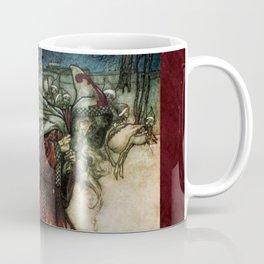 Father Christmas 2, Vintage Arthur Rackham Santa Coffee Mug