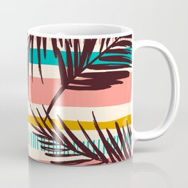 Tribal Tropical Leaf Pattern Coffee Mug