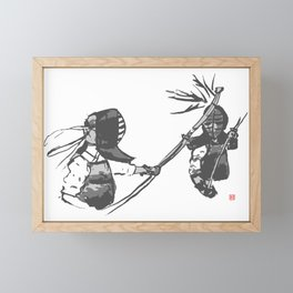 Naginata Sumi-E by Takemi Framed Mini Art Print