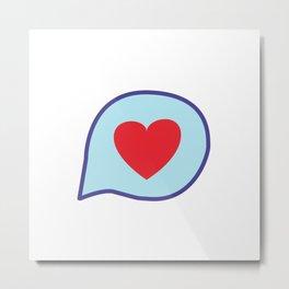 Valentine heart text balloon Metal Print