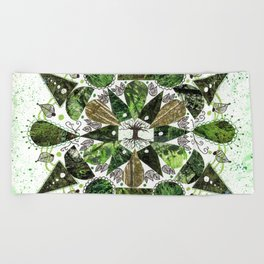 Tree of LIfe Mandala Beach Towel